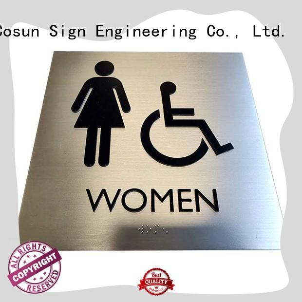 COSUN Custom plexiglass door sign factory for door
