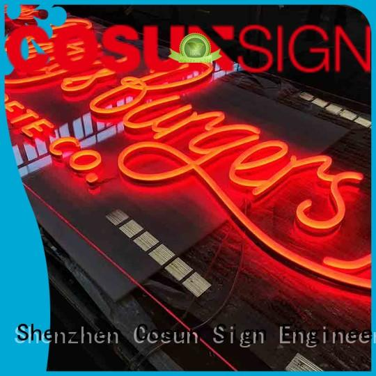 COSUN popular indoor led signs manufacturers for house