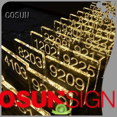 COSUN High-quality in use sign for door company for bar