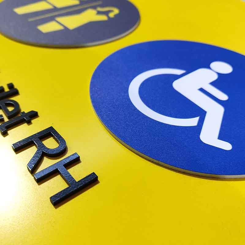 Cosun Painted Acrylic Ada Toilet Signage