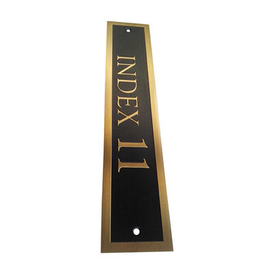 Cosun Customized Brass Number Plate Frame