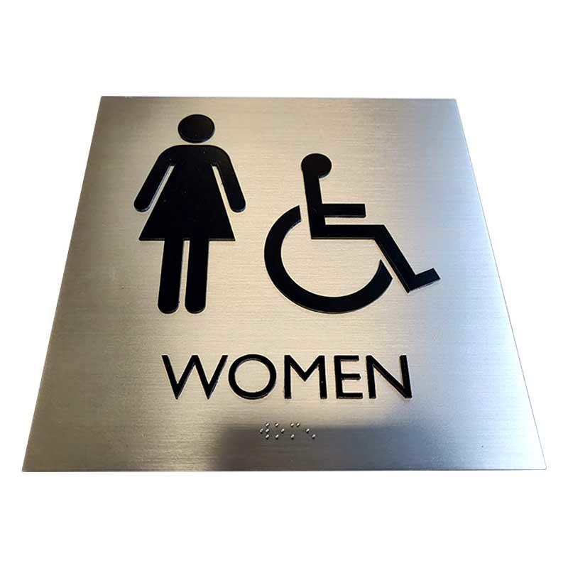 Cosun Stainless Steel Braille Toilet Sign