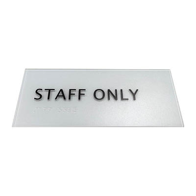 Cosun Acrylic Thermoforming House Number With Braille