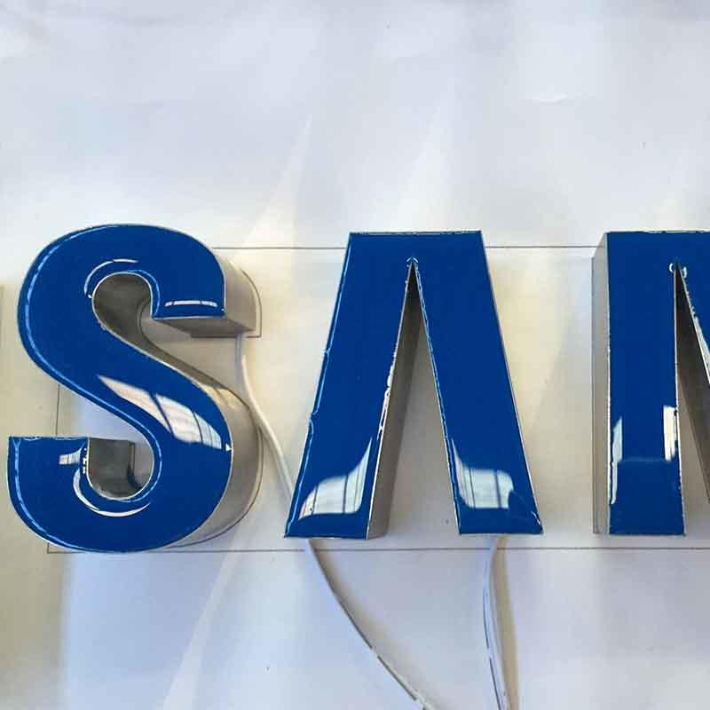 Resin Logo Sumsung Blue Brushed Surface Personalized