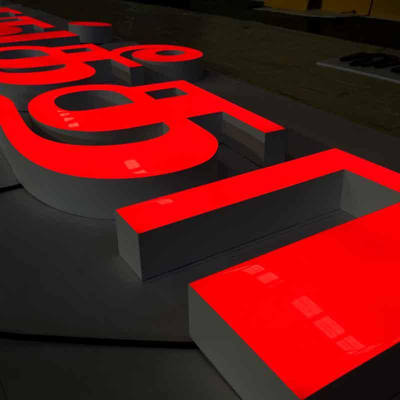 Red Resin Signage Cosun Stainles Steel Custom Design Competitive Price