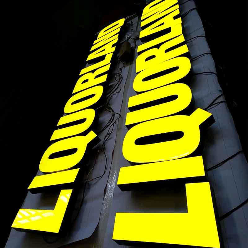 Yellow Led Resin Letter New Promotion Stainless Steel For Sale