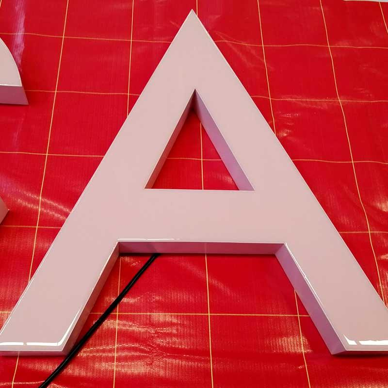 Pink Business Resin Letter Sign Customized Bright Wholesale From China