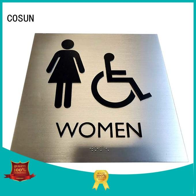 COSUN Top home name signs Suppliers for warning
