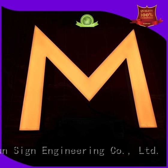 COSUN New resin sign for business for promoting