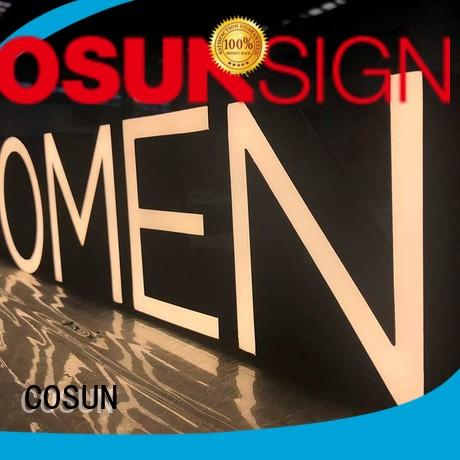 COSUN signage resin sign Suppliers for warning