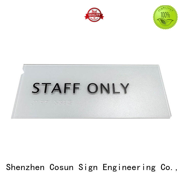 High-quality name plaques for wall cnc aluminum manufacturers for warning