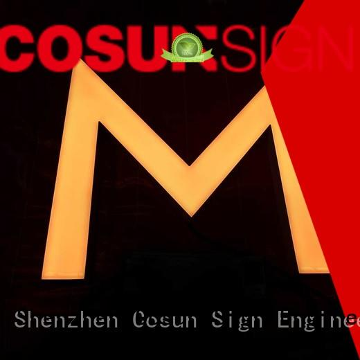 COSUN Top resin house signs Supply buy now