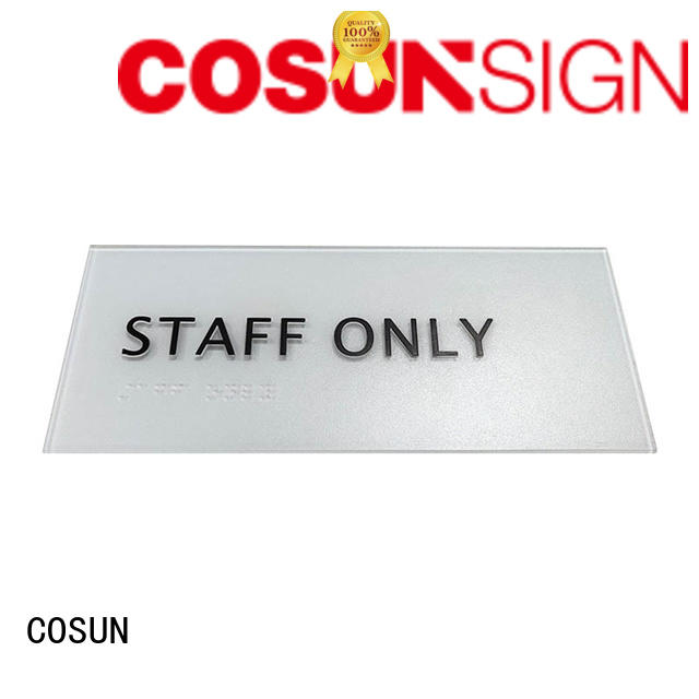 COSUN Wholesale pull door sign Supply for decoration