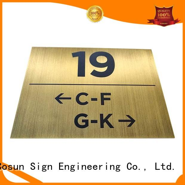 COSUN Custom door sign hotel manufacturers for door