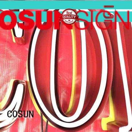 COSUN popular neon light custom sign wholesale for hotel