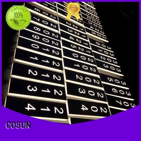 COSUN painted commercial door signs Supply for bar