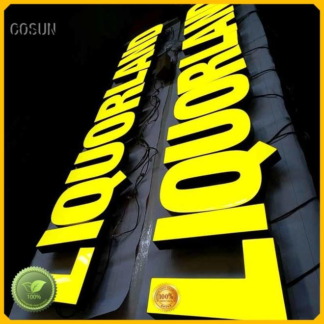 COSUN Latest resin sign Supply for decoration