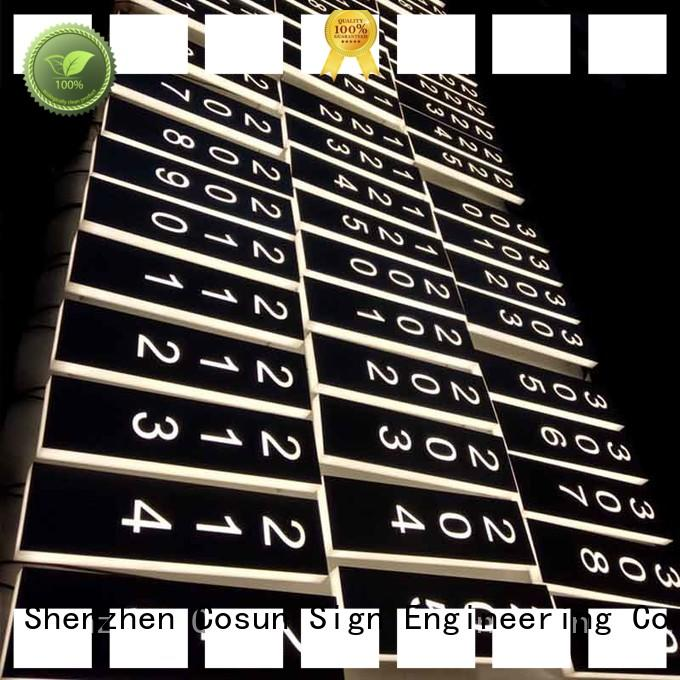 COSUN hanging door signs laser cutting for hotel