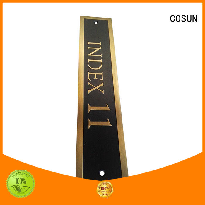 New plastic door number plates polishing Supply for decoration