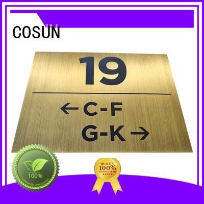 sliding door sign stainless steel for door COSUN