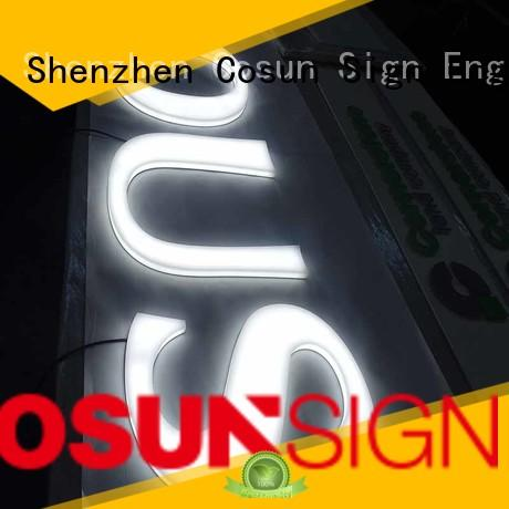 Custom curved adhesive wall sign holder clear letter factory for shop