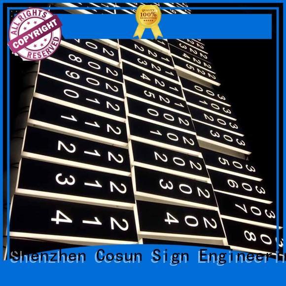 COSUN metal plate door sign for wholesale