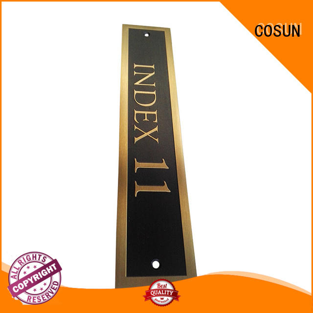 Latest personalised name door signs etched for business for decoration