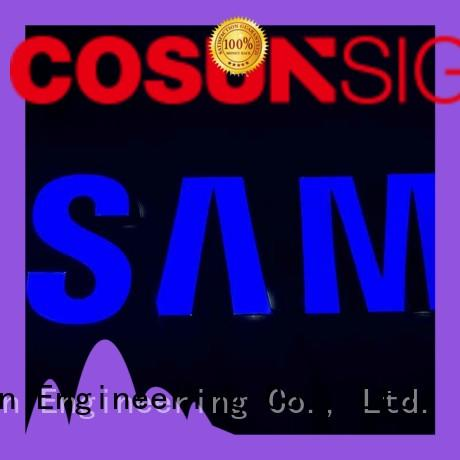 COSUN Custom resin sign factory check now