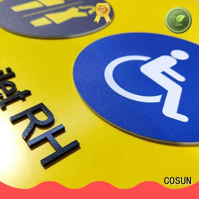 COSUN toilet door signs thermoforming for decoration