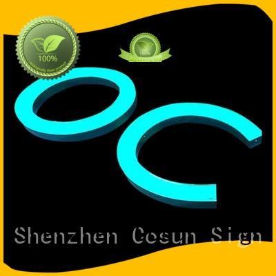 eye-catching neon sign logo bulk production for decoration COSUN
