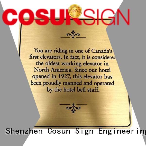 COSUN quality house plaque illuminated bar