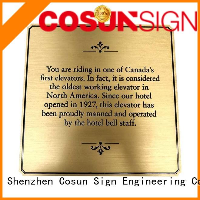 COSUN etched sign board Supply for shop