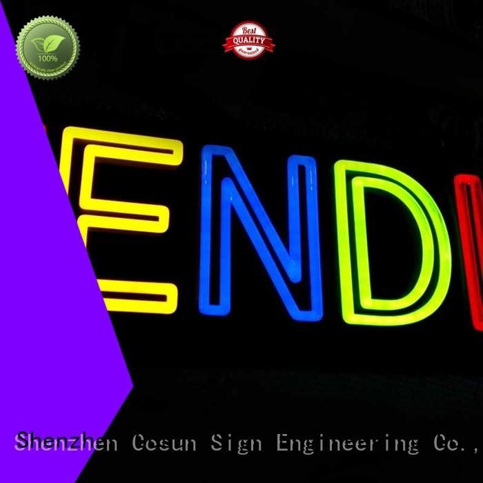 COSUN popular neon sign beer ODM for warning