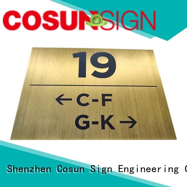 COSUN stainless classroom door sign now interior