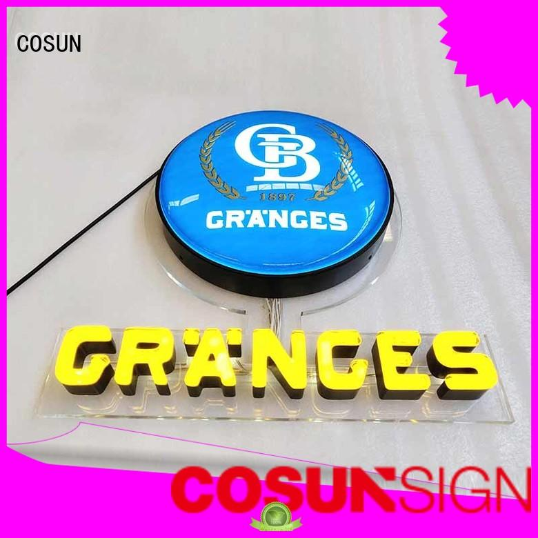 COSUN New sign manufacturing factory check now