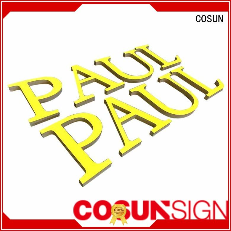 Shop Brand 3D Clear Acrylic Letter 100% Full Inspection Best Quality