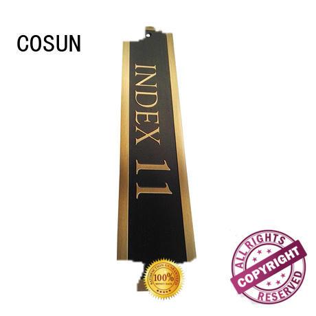 COSUN etched hotel door sign buy now