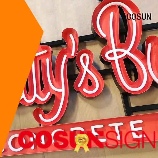 decorative neon sign hot-sale for promotion COSUN