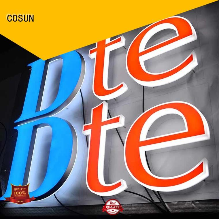 acrylic letter sign cheapest price COSUN