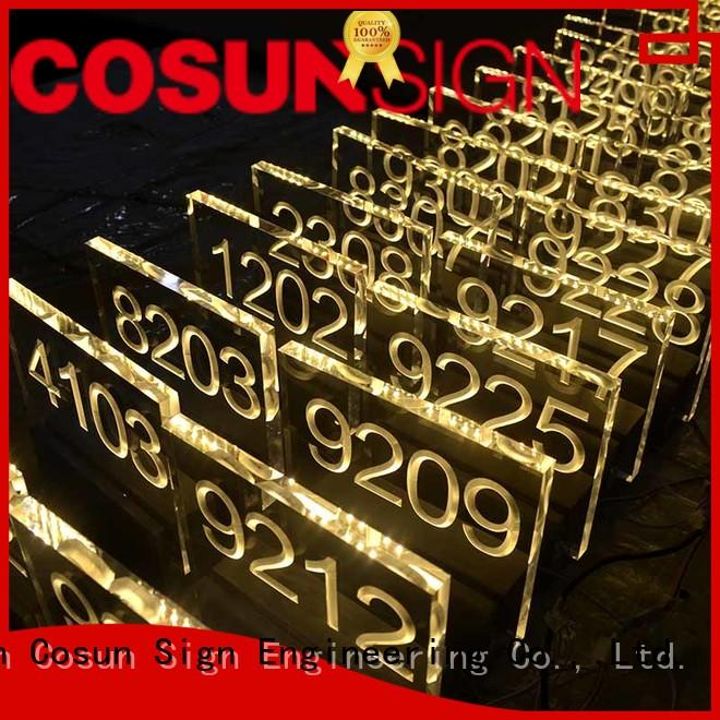 etched sliding door sign acrylic for warning COSUN