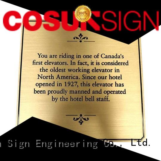 COSUN plaque custom led signs indoor buy now for shop