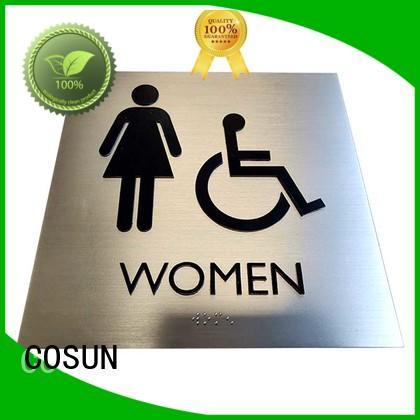 COSUN metal office door signage for shop