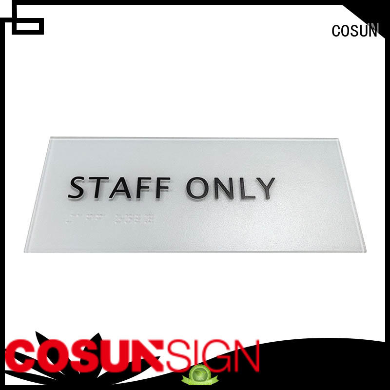COSUN factory house number plate for shop