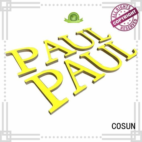 COSUN now blank acrylic sign letter club