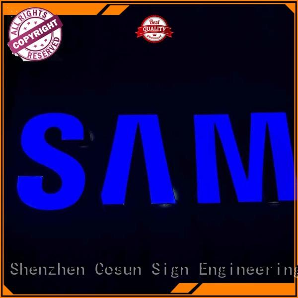 COSUN Custom resin sign factory for room