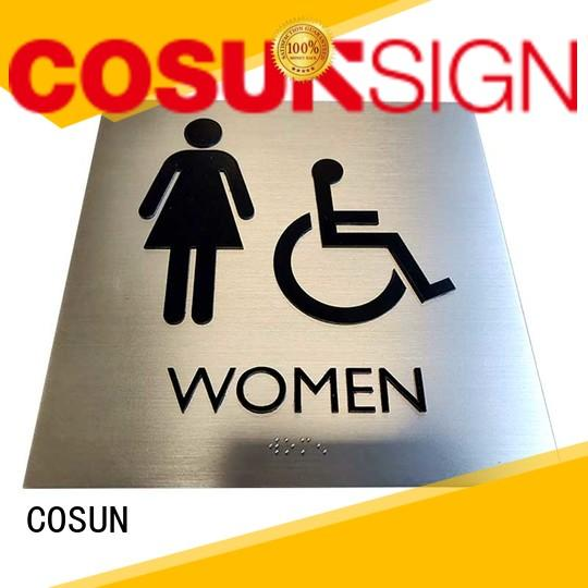 COSUN Latest outdoor door signs Supply for hotel