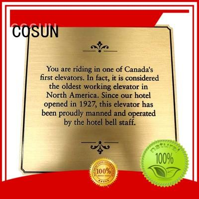 Cosun Etched And Paint Filled Graphic Plaque