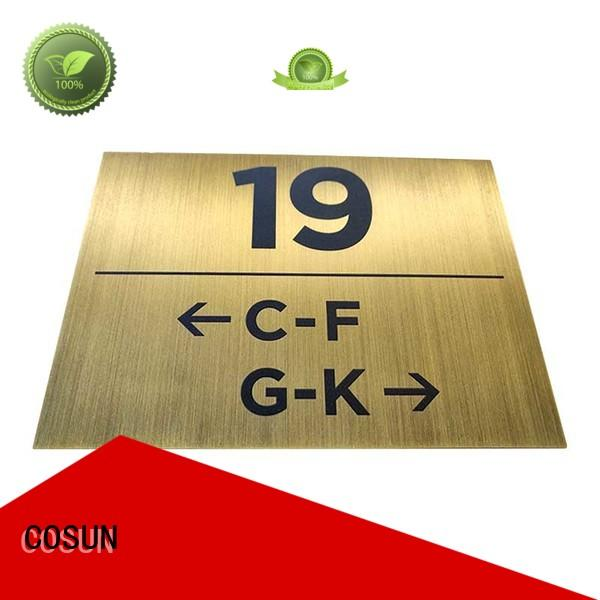 COSUN Latest interchangeable office door signs Supply for bar