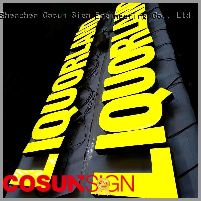 Wholesale resin sign led company for hotel