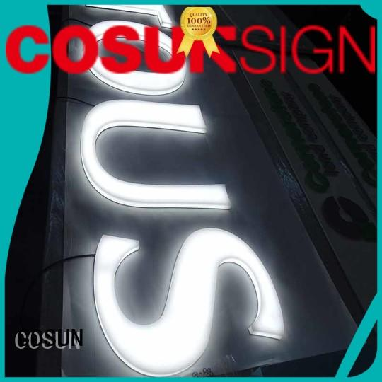 custom letter signs clear letter inquire now COSUN